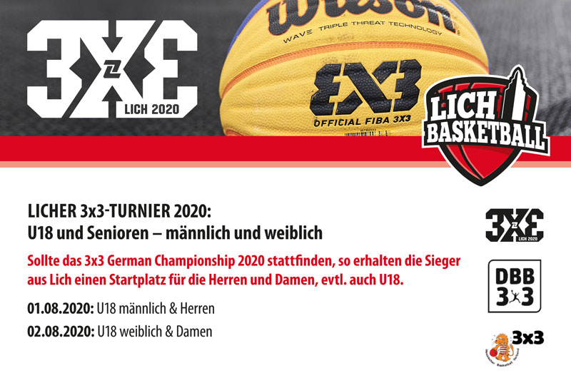 3x3 Turnier in Lich am 1. und 2. August 2020